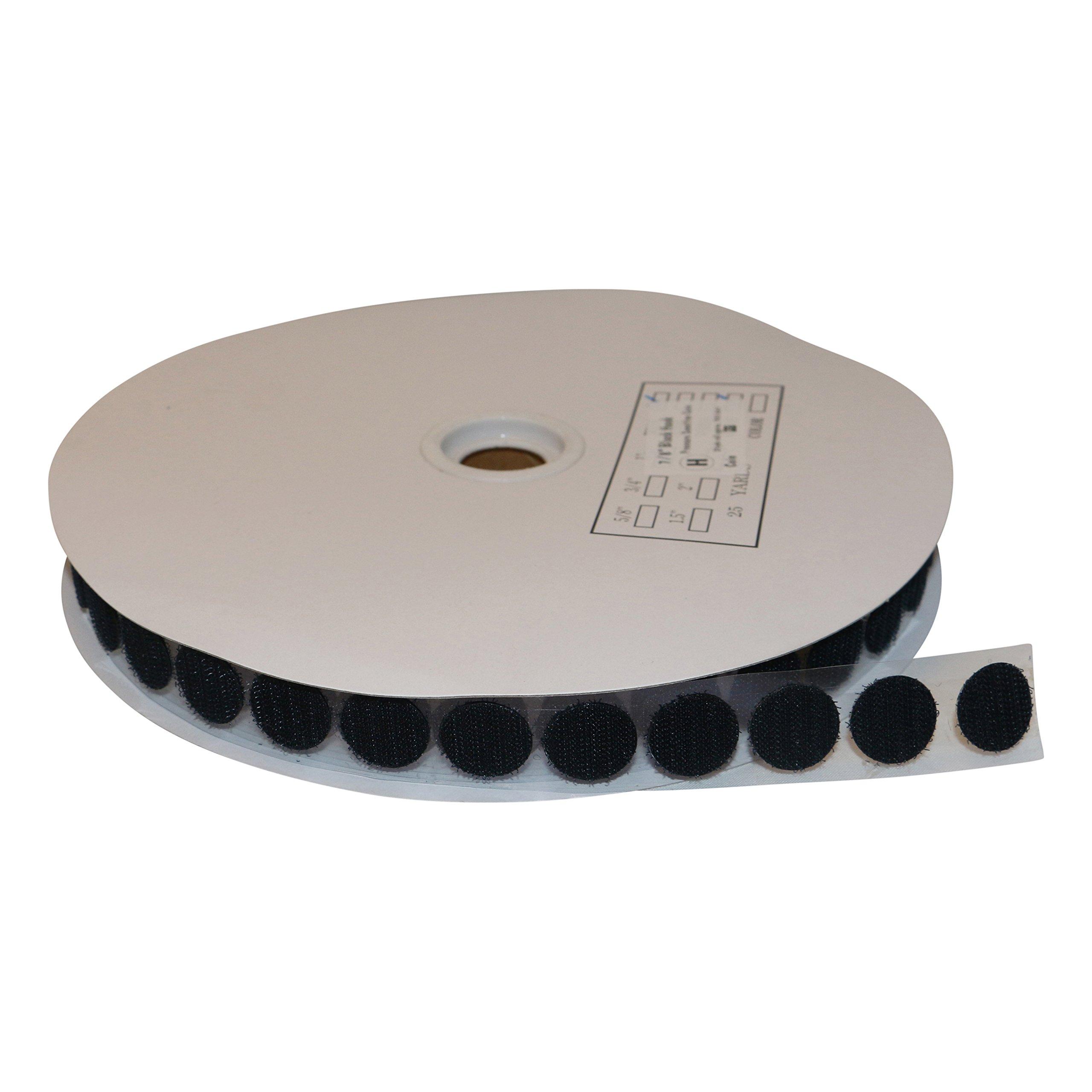 FindTape HL74-C Adhesive-Backed Hook-Side Only Coins/Dots: 7/8 in. x 75 ft. (Black) / hook-side only [900 coins/roll] by FindTape