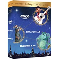 Coffret Disney Pixar 3 DVD : Coco + Ratatouille + Monstres & Cie