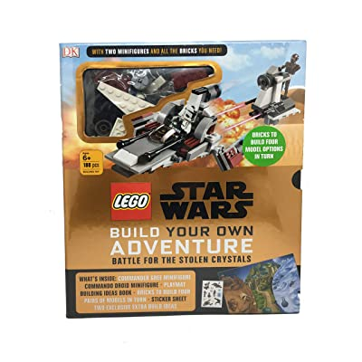 LEGO Star Wars Battle for The Stolen Crystals Build Your own Adventure ( 2 Minifigures and Brick Set) 180 pcs: Toys & Games