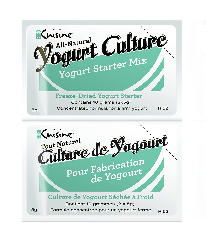 Amazon.com : Euro Cuisine RI52 All Natural Yogurt Culture ( 2 - 5gr ...
