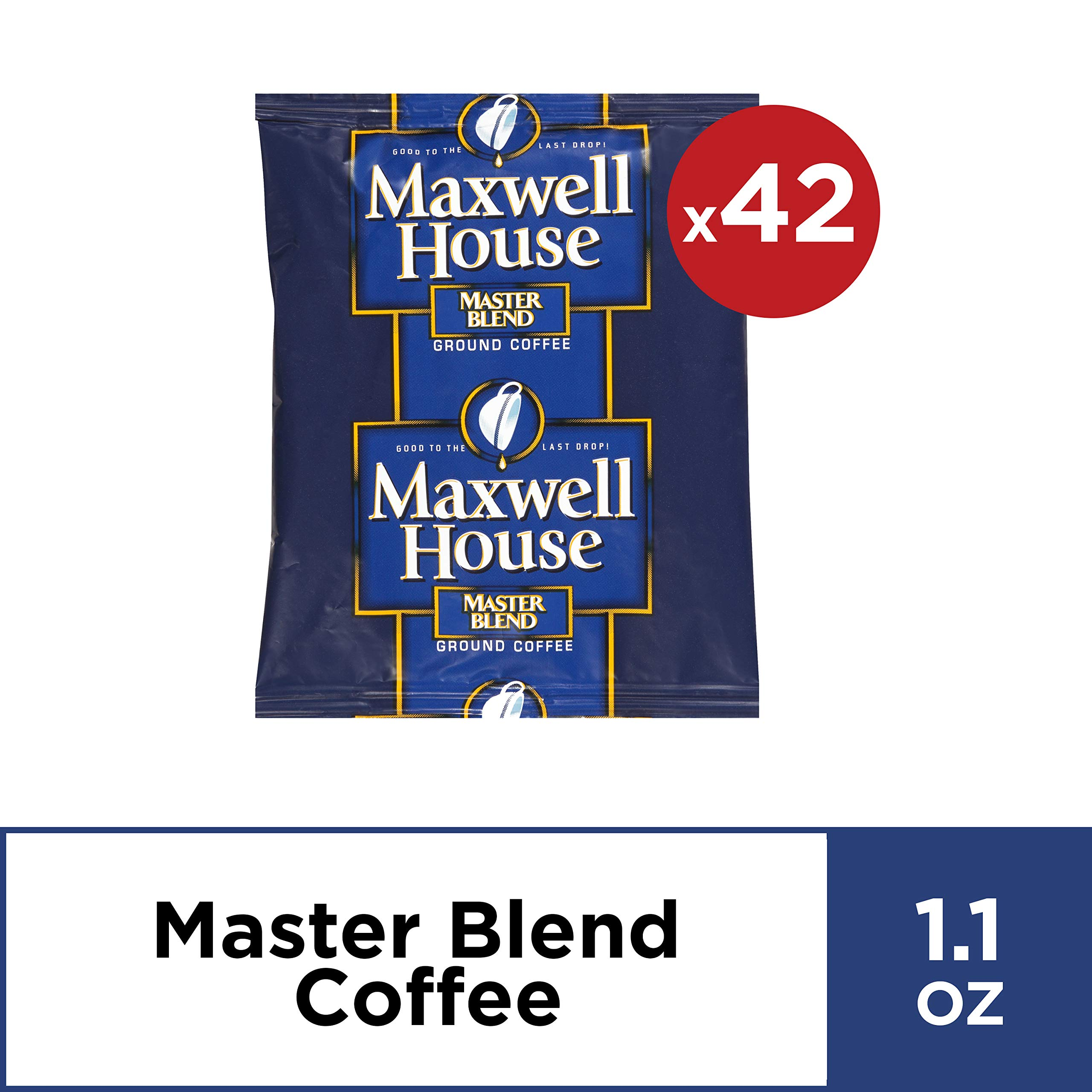 Maxwell House Master Blend Coffee Single Serve (1.1 oz Bags, Pack of 42)