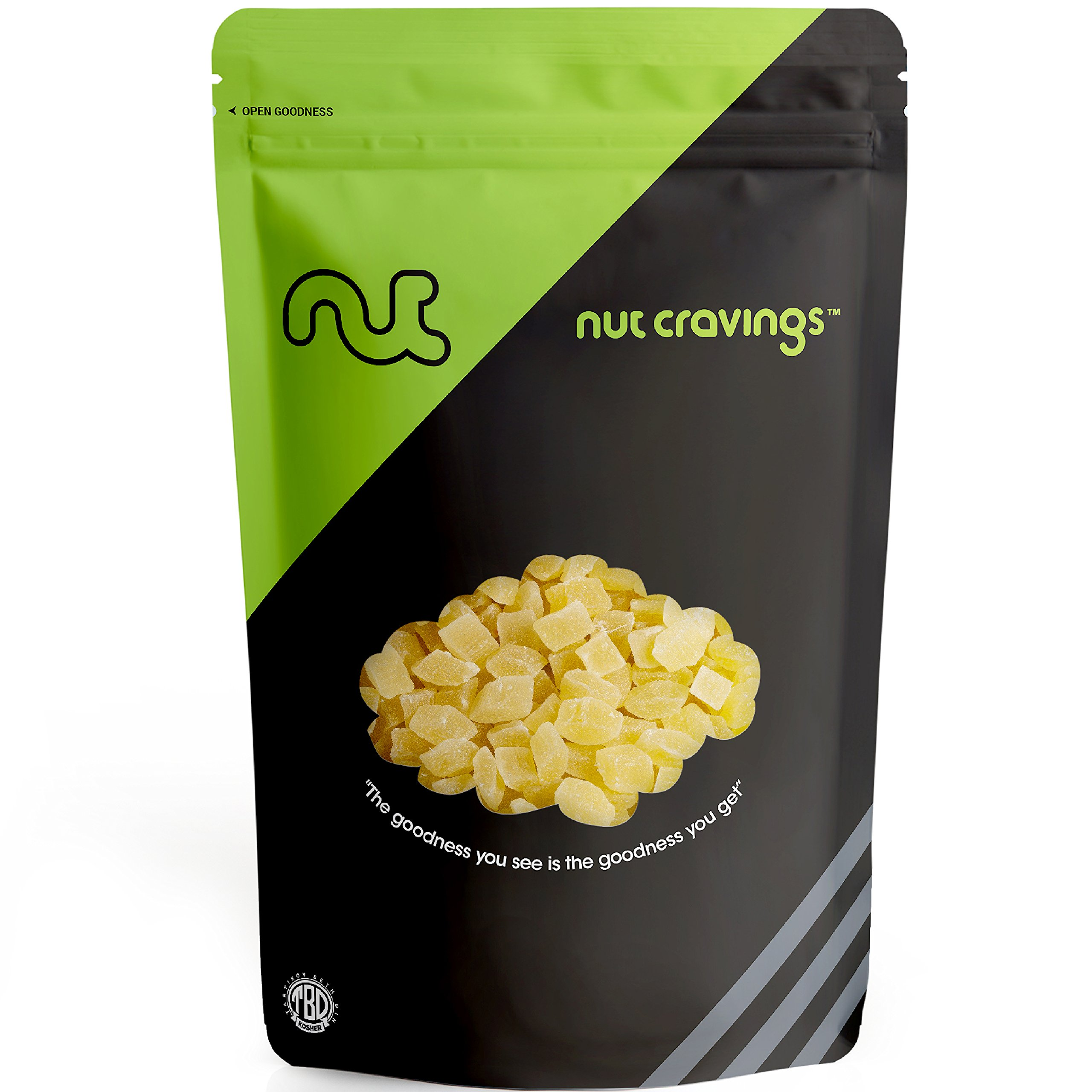Nut Cravings - Dried Pineapple Chunks - Sweet, Healthy Dehydrated Fruit Snacks with Sugar Added - SAMPLER SIZE by Nut Cravings
