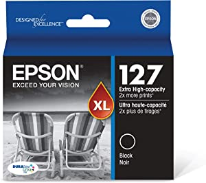 Epson T127120 Stylus NX530 625 WorkForce 545 60 630 633 635 645 840 845 WF-3520 3530 3540 7010 7510 7520 Ink Cartridge (Black) in Retail Packaging