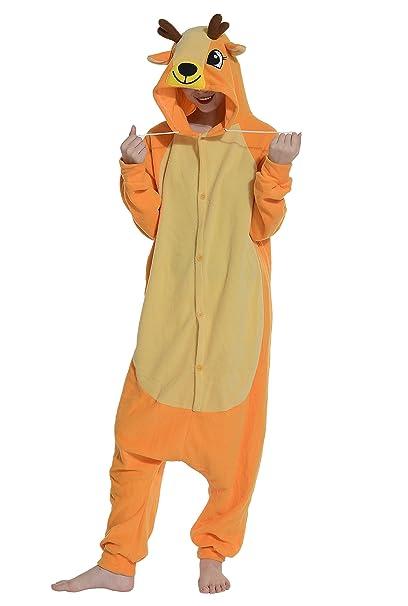 Cosplay Animales Pijamas Mujer Invierno Novedad Navidad Traje Disfraz Adulto Ciervo