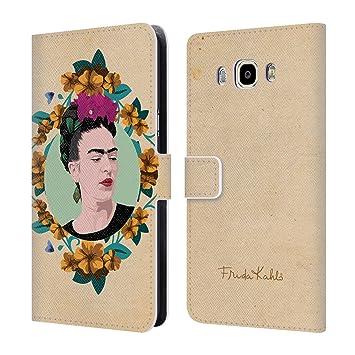 Oficial Frida Kahlo retrato funda de piel tipo libro para Samsung Phones 3