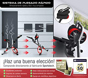 Sportstech X150 Bicicleta estática 4 en 1 con aplicación para Smartphone y sensores de Ritmo cardiaco Integrado + Asiento con Respaldo: Amazon.es: Deportes y aire libre