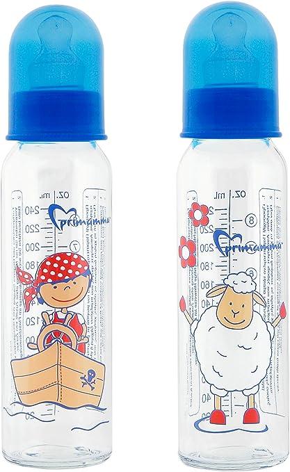 Primamma 99946131 - Biberon de vidrio, Pack de 2 x 250 ml: Amazon.es: Bebé