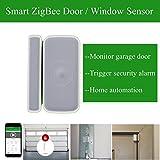 Smart ZigBee Door Window Sensor for Smart Home Automation, Monitor Garage Door and TriggerSecurity System Burglar Alarm