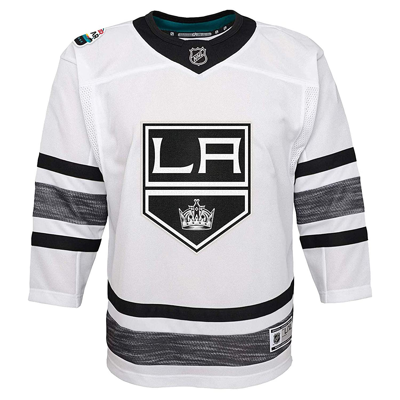 RENDONG Maglia NHL Los Angeles Kings Maglia da Hockey su Ghiaccio Nera 2018