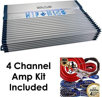 Pioneer 4 channel Amp PONTABLE voiture ampli 1200 W GM-D8704 /& Complet Câblage Kit