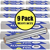 Kontactic Aluminum Foil Roll 9 Pack 594 Square Feet | Aluminum Tin Foil Sheets | Aluminum Foil Non Stick Foil Sheets for…