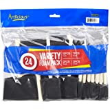 Artlicious - Foam Paint Brush Value Pack (Variety - 24 Pack)