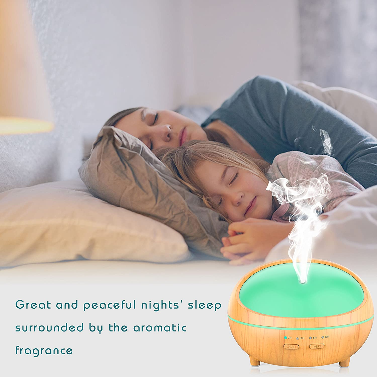 ... 300ml Aromatherapy Diffuser for Essential Oils, Ultrasonic Aroma Diffuser Cool Mist Humidifier with Timing Set Auto Shut off 7 Color light for Baby ...