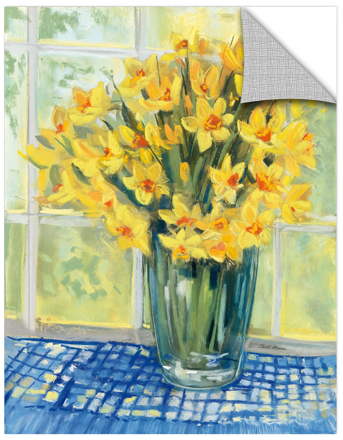 14X18 Carol Rowan Window Floral IV Removable Wall Art Mural