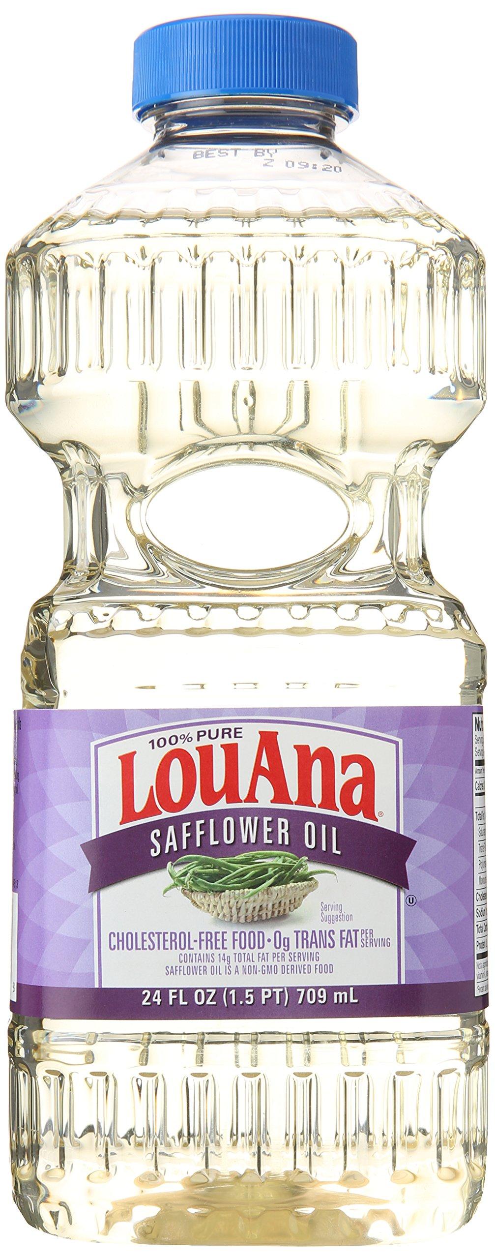 LouAna Pure Safflower Oil, 24 oz
