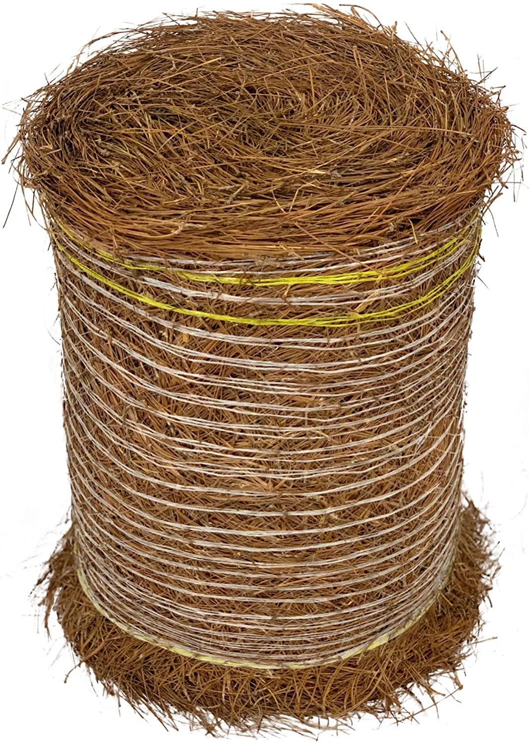 Longleaf Pine Straw Roll for Landscaping - Non-Colored - Covers Up to 125 Square Feet