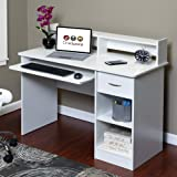 Amazon Price History for:OneSpace 50-LD0101 Essential Computer Desk, Hutch with Pull-Out Keyboard, White
