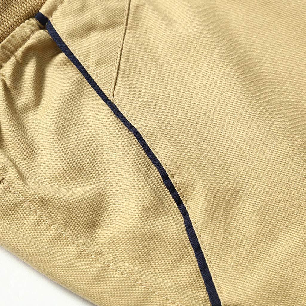 IZHH Shorts de Sport Pantalons pour Hommes Sports de Loisirs d/ét/é Cordon de Serrage Pantalon de Cinq Cents en Coton Ceinture de Plage /Élastique Casual Pantalon