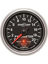 "Auto Meter 3647 2-1/16"" 0-2000 F Full Sweep Electric Pyrometer E.G.T. (Exhaust Gas Temperature)"