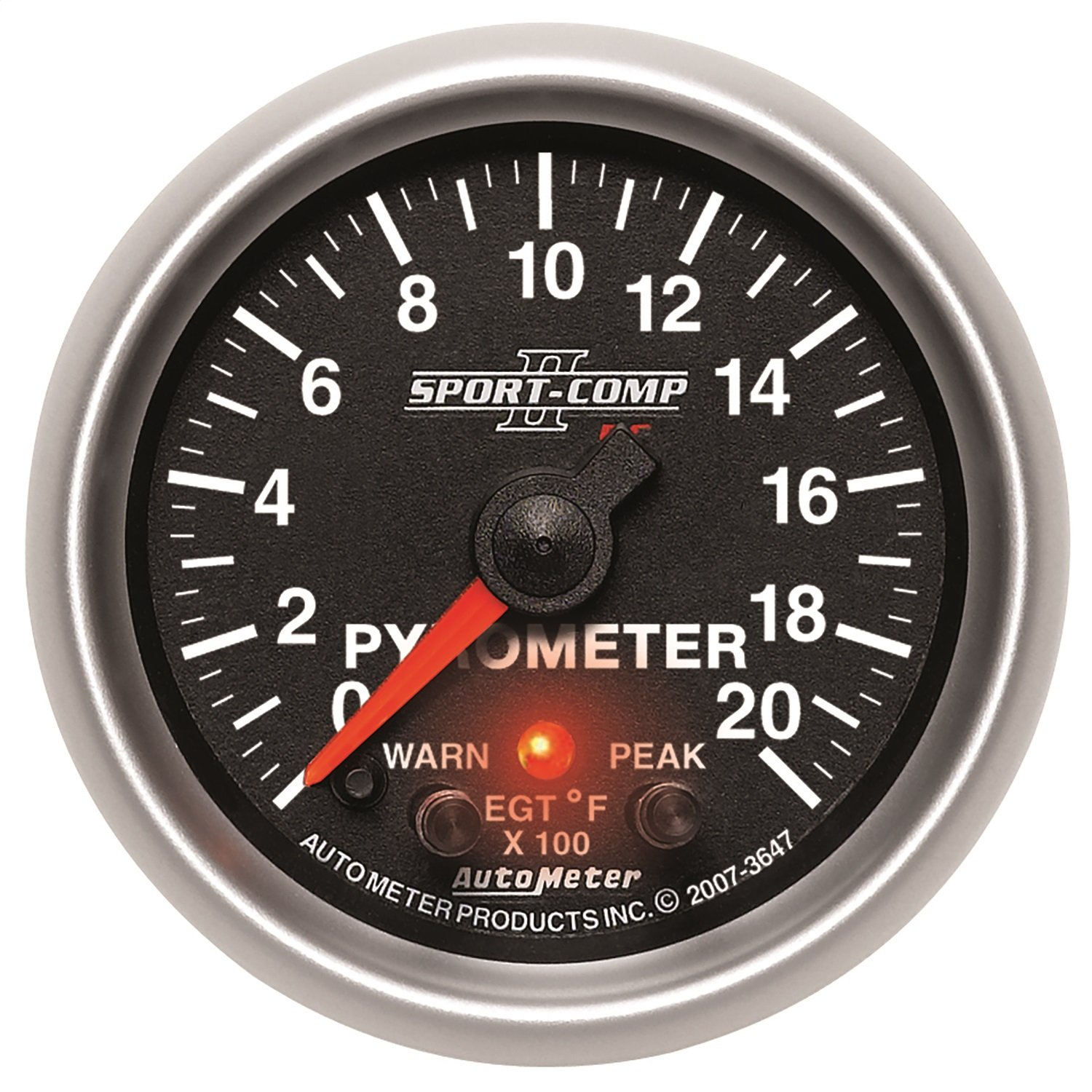Auto Meter 3647 2-1/16'' 0-2000 F Full Sweep Electric Pyrometer E.G.T. (Exhaust Gas Temperature)