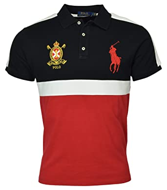 Ralph Fit Pony At Shirt Lauren Slim Custom Polo Men's Big bv6fY7gIym