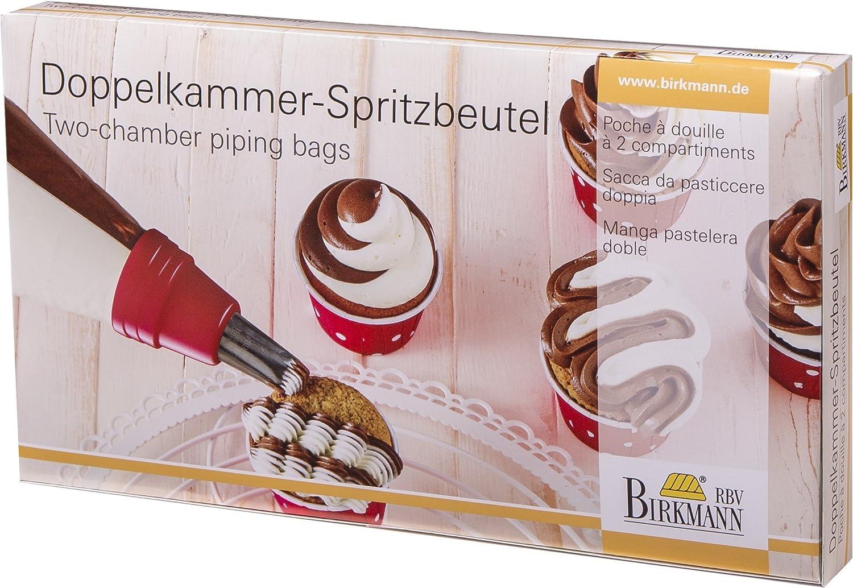 5 x 3 x 2 cm Grau Kunststoff Birkmann 1010733110 Doppelkammer-Spritzbeutel