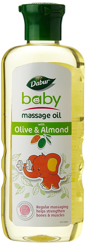 Dabur Baby Massage Oil with Olive & Almond (Olive-Badam) 200 ml