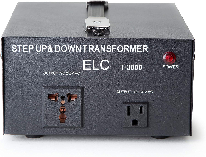 STU 3000 W Watt Step Up Down 110V 220V Voltage Converter Transformer with USB TO