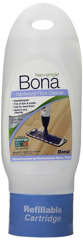 amazoncom bona free and simple hardwood floor cleaner 33oz refillable cartridge health u0026 personal care