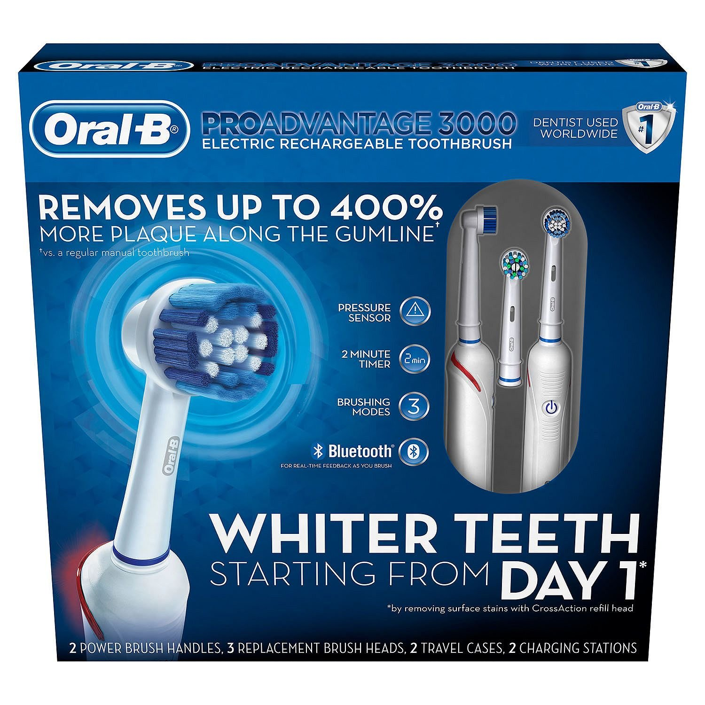 Oral B 116149 Proadvantage 3000 2 Pack + 3 Brush