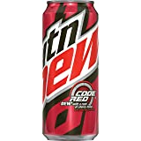 Mountain Dew Code Red 16 Ounce Cans, 12 Count
