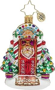 Christopher Radko Hand-Crafted European Glass Christmas Ornament, Sweet Home Door Décor Gem