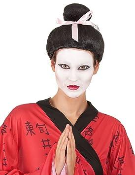 Peluca Geisha mujer - Única: Amazon.es: Juguetes y juegos