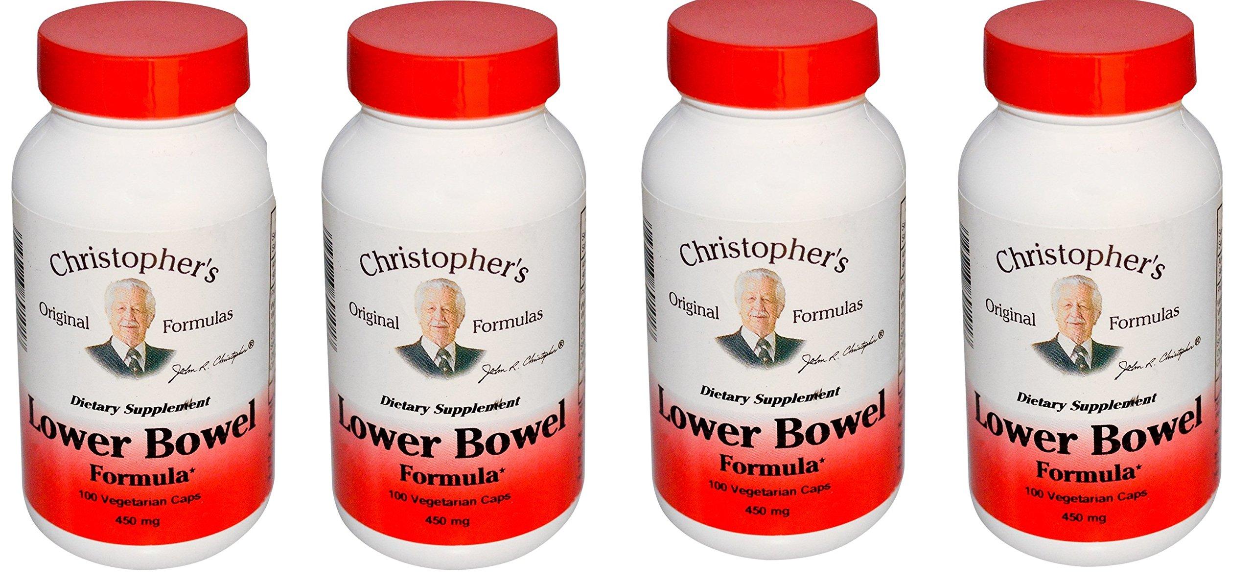 Dr. Christopher's: Lower Bowel Formula, 100 caps (4 pack)