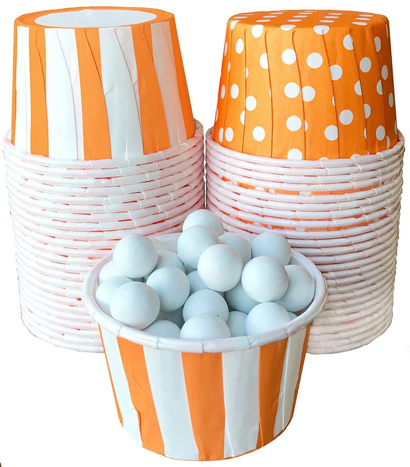 Outside the Box Papers Stripe and Polka Dot Candy Dipping Cups 48 Pack