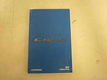 Honda Owners Manual >> 2015 Honda Civic Owners Manual Guide Book Honda Amazon Co