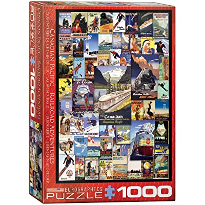 EuroGraphics Canadian Pacific Adventures Puzzle (1000-Piece): Toys & Games