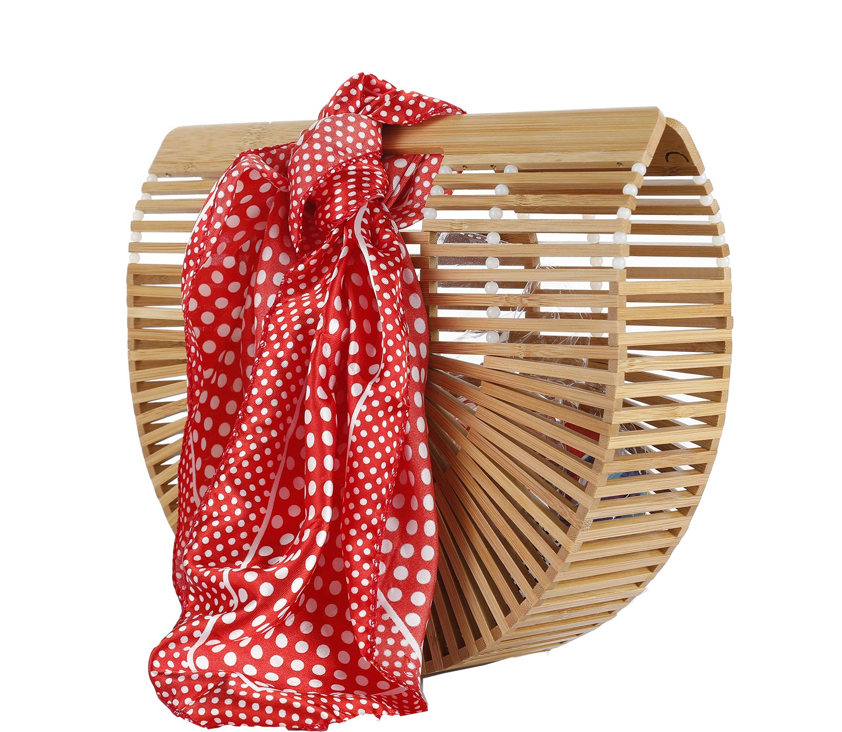 Bamboo Clutch Ark Bag Beach Handbag (bamboo bead)