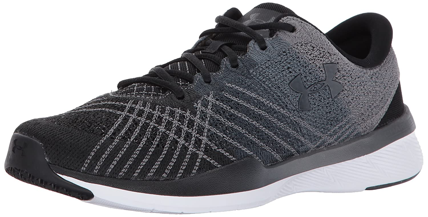 Under Armour Women's Threadborne Push Cross-Trainer Shoe B01N1SGRTG 10.5 M US|Black (001)/Steel
