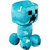 "JINX Minecraft Happy Explorer Charged Creeper Plush Stuffed Toy, Blue, 7"" Tall"