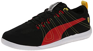 df446801c3 Puma Men's Tech Everfit Ferrari 10 Lace-Up Fashion Sneaker, Black/Rosso  Corsa