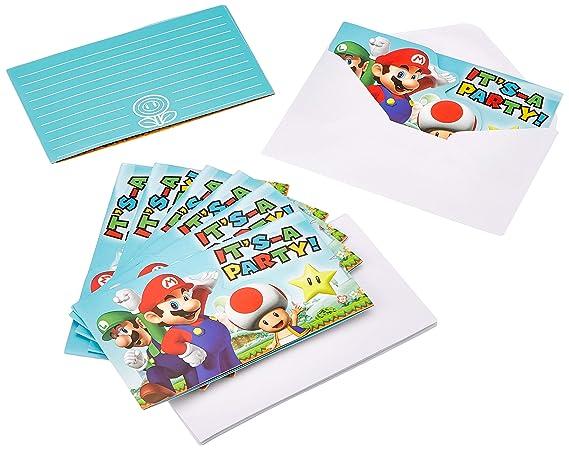 Amscan 9902642 Super Mario - Juego de accesorios para fiesta ...