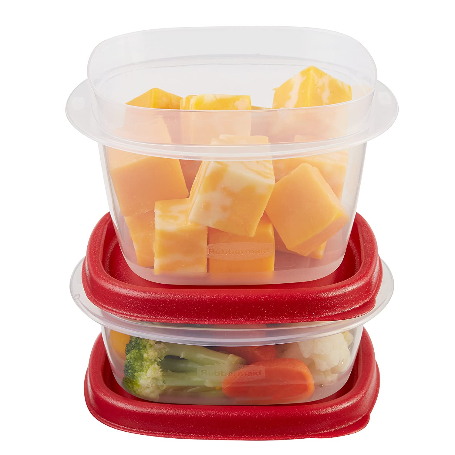 Rubbermaid Easy Find Lids Food Storage Container, 6-Piece Set, Red