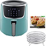 GoWISE USA GW22954 7-Quart Electric Air Fryer with Dehydrator& 3 Stackable Racks, Digital Touchscreen with 8 Functions + Reci