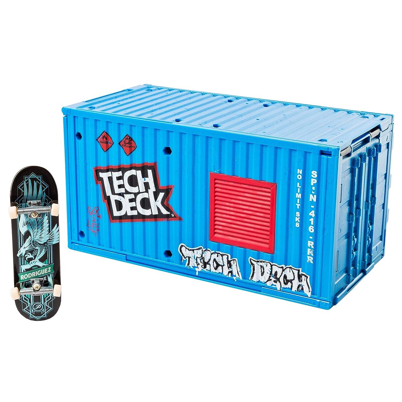 Tech Deck Transforming Skate Container Skate Park Set - Piezas y Accesorios para minimonopatines y minibicicletas para Dedos (Skate Park Set, Azul, ...