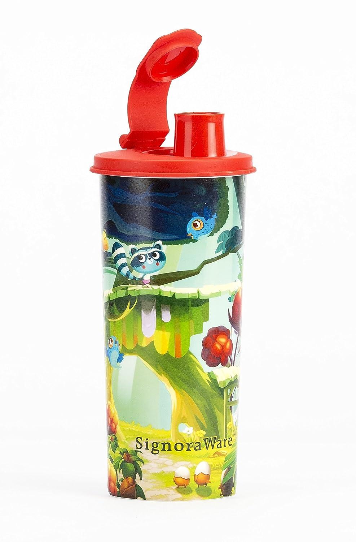 Signoraware Tree House Plastic Stylish Jumbo Sipper, 500ml, Red