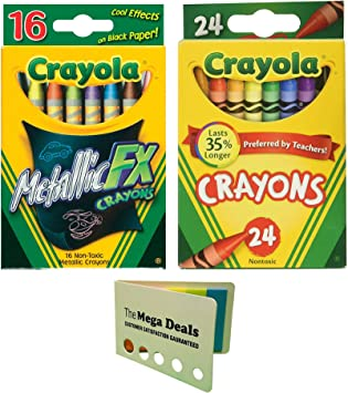 Includes 5 Color Flag Set Crayola Crayons 24 ct Pack of 2