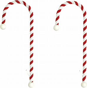Haute Decor Candy Cane Stocking Holder - Holds Up To 10 lbs 2-PACK