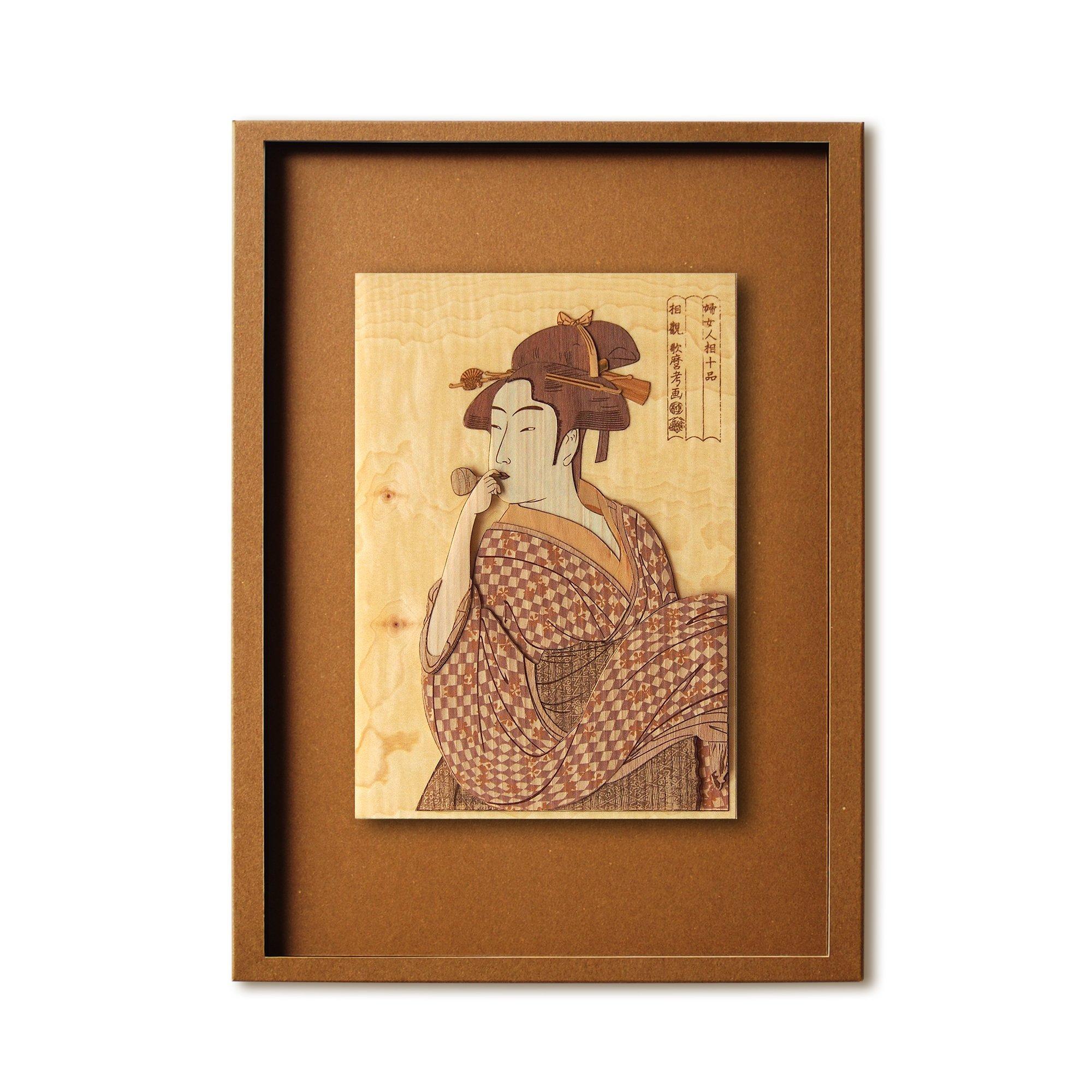 KINOWA Ukiyoe Art Kit Kiharie Poppen O Fuku Musume Made in Japan by KINOWA