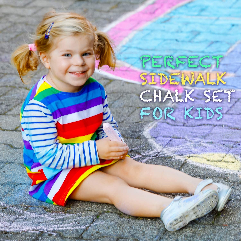 8 Bright /& Cheerful Colors Natural Vine Sidewalk Chalk Set Pack of 8 Multi-Color Jumbo Street Chalks Chalks for Teachers and Schools